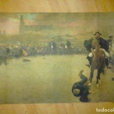 Carteles: CARTEL REPRODUCCIÓN DE LA CARGA DE RAMÓN CASAS 1899. Lote 87348540