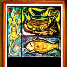 Carteles: CARTEL DE COLECION OBRA DE - MANOLO GIL - EXPOSICION EN IVAM 1995. TAMAÑO 70X50CMS. Lote 126490614