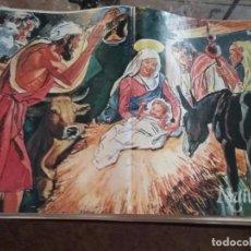 Carteles: 45 X 29 CM GRAN LAMINA EDUCATIVA - CARTEL / POSTER AÑOS 80 - NACIMIENTO PORTAL DE BELEN VIRGEN NIÑO . Lote 89560752