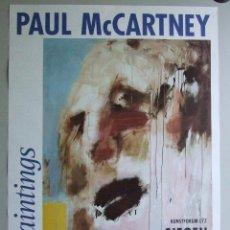 Carteles: CARTEL GRAN TAMAÑO BEATLES PAUL MCCARTNEY PAINTINGS . Lote 90203088