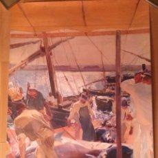 Carteles: CARTEL EXPOSICIÓN SOROLLA VISIÓN DE ESPAÑA.COLECCION HISPANIC SOCIETY AMÉRICA.PESCA ATUN AYAMONTE. Lote 90687532