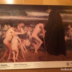 Carteles: CARTEL EXPOSICIÓN SOROLLA VISIÓN DE ESPAÑA.COLECCION HISPANIC SOCIETY AMÉRICA.TRISTE HERENCIA. Lote 90687727