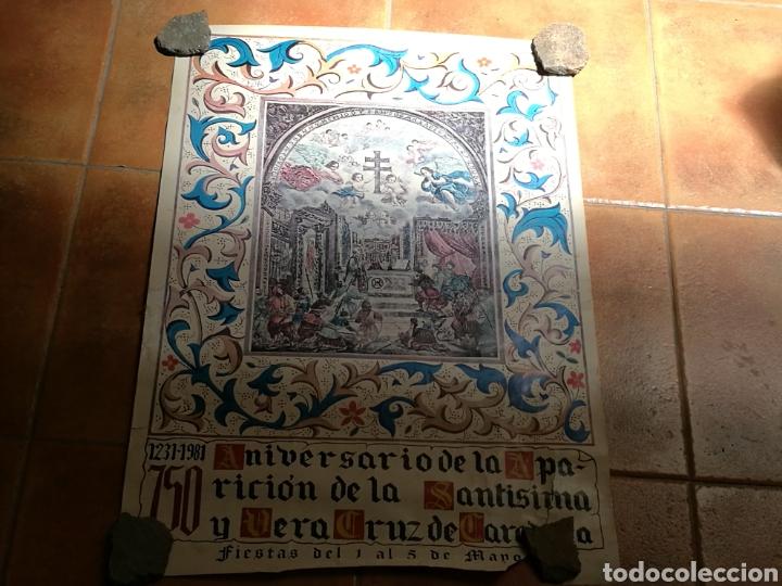 RARO CARTEL DEL 750 ANIVERSARIO DE LA APARICIÓN DE LA SANTÍSIMA VERA CRUZ DE CARAVACA. 1231-1981 (Coleccionismo - Carteles Gran Formato - Carteles Varios)