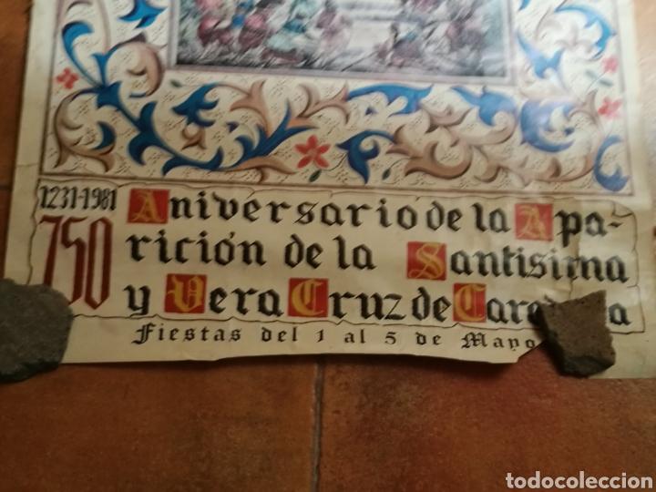 Carteles: Raro cartel del 750 aniversario de la aparición de la Santísima Vera Cruz de Caravaca. 1231-1981 - Foto 2 - 91717567
