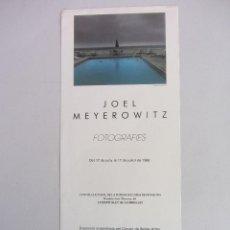 Carteles: CARTEL EXPOSICIÓN FOTOGRAFICA JOEL MEYEROWITZ 1988. Lote 91851110