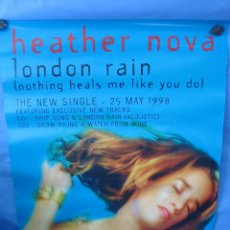 Carteles: CARTEL HEATHER NOVA 1998. MEDIDAS 65X48 CM. Lote 92200845