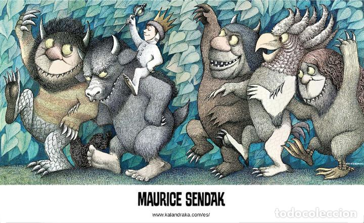 CARTEL PÓSTER 'DONDE VIVEN LOS MONSTRUOS' DE MAURICE SENDAK. EDITORIAL KALANDRAKA 2015. (Coleccionismo - Carteles Gran Formato - Carteles Varios)
