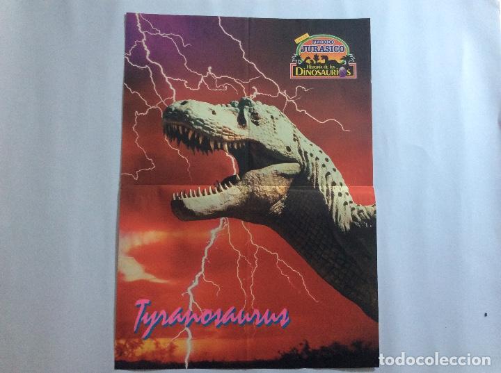 Carteles: PÓSTERS CHICLE PERIODO JURÁSICO HISTORIA DE LOS DINOSAURIOS - Foto 5 - 95034455