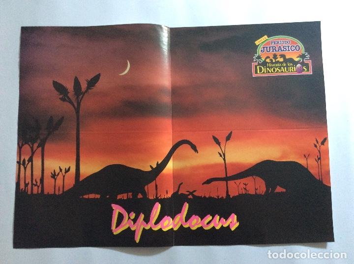 Carteles: PÓSTERS CHICLE PERIODO JURÁSICO HISTORIA DE LOS DINOSAURIOS - Foto 7 - 95034455