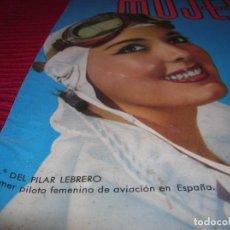 Affiches: PRECIOSA PORTADA DE REVISTA.PRIMER PILOTO FEMENINO DE LA AVIACIÓN EN ESPAÑA. Lote 96238559