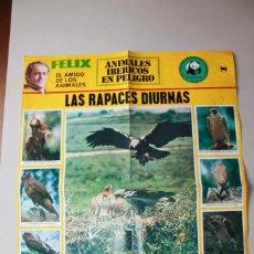 Affissi: FÉLIX RODRÍGUEZ DE LA FUENTE, ANIMALES IBÉRICOS EN PELIGRO, ADENA, NÚMERO 8. Lote 96397075