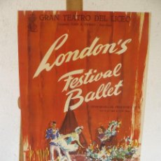 Carteles: CARTEL LITOGRÁFICO - GRAN TEATRO DEL LICEO - LONDON'S FESTIVAL BALLET - 1959. Lote 96525999