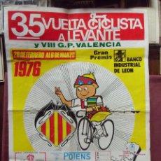 Carteles: 35 VUELTA CICLISTA A LEVANTE.1976.CARTEL.. Lote 96537099