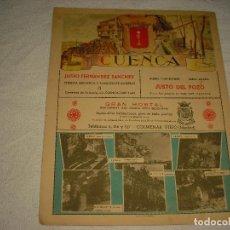 Carteles: PUBLICIDAD PROVINCIAL DE CUENCA . 23X 28 CM. MATEO-CROMO MADRID . EN EL REVERSO MAPA. Lote 97474707