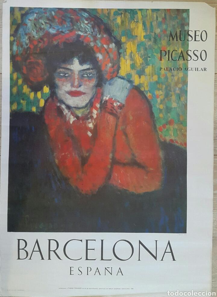 L'ATTENTE CARTEL ORIGINAL MUSEO PICASSO. PALACIO AGUILAR. SALA GASPAR 1966 (Coleccionismo - Carteles Gran Formato - Carteles Varios)