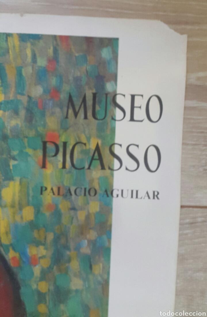 Carteles: LATTENTE CARTEL ORIGINAL MUSEO PICASSO. PALACIO AGUILAR. SALA GASPAR 1966 - Foto 4 - 97829884