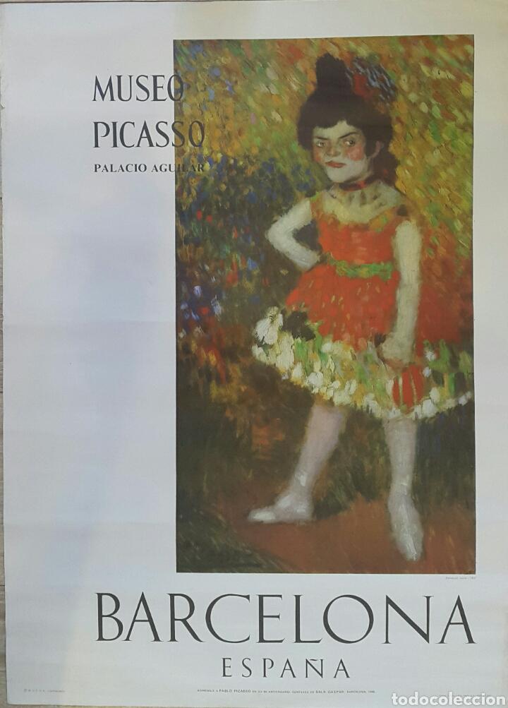 DANSEUSE NAINE. CARTEL ORIGINAL MUSEO PICASSO PALACIO AGUILAR 1966 (Coleccionismo - Carteles Gran Formato - Carteles Varios)