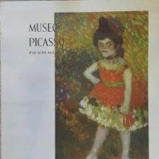 Carteles: DANSEUSE NAINE. CARTEL ORIGINAL MUSEO PICASSO PALACIO AGUILAR 1966. Lote 97830534