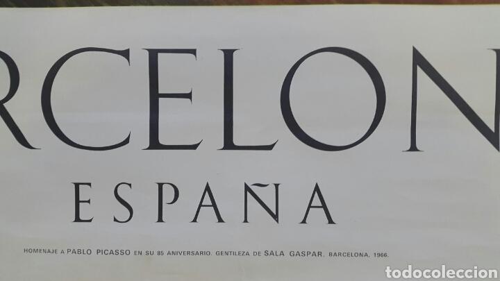 Carteles: DANSEUSE NAINE. CARTEL ORIGINAL MUSEO PICASSO PALACIO AGUILAR 1966 - Foto 2 - 97830534