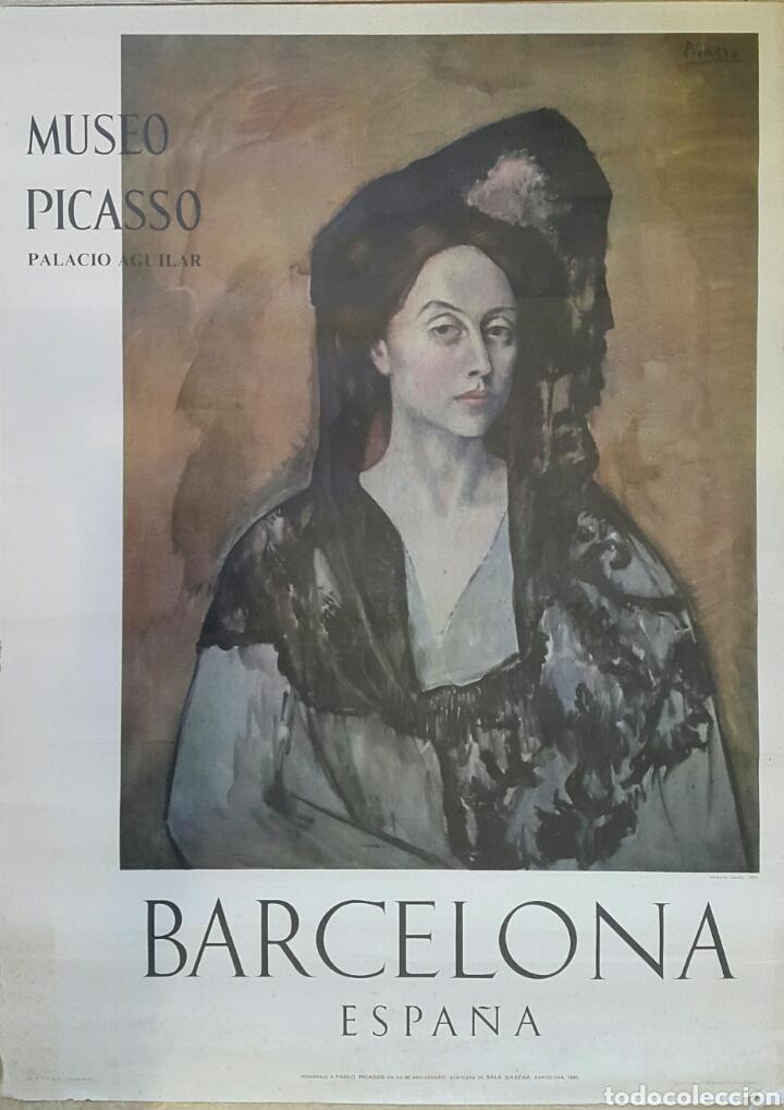 MADAME CANALS. CARTEL ORIGINAL MUSEO PICASSO PALACIO AGUILAR 1966 (Coleccionismo - Carteles Gran Formato - Carteles Varios)