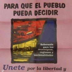 Carteles: PÓSTER ELECTORAL DE ALIANZA POR LA REPÚBLICA. 1988 A 1989.. Lote 98532719