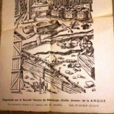 Carteles: CARTEL ANTIGUO SOBRE HIDROMETALURGIA- UNICO- 1983-. Lote 99933767