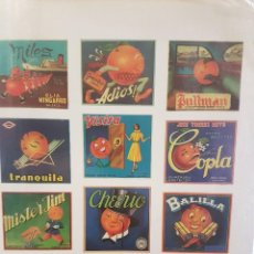 Carteles: LA FRUITA DAURADA,750 ANYS AMB TARONGES. CARTELLS. Lote 100324987