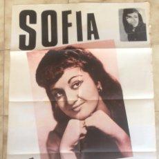 Carteles: CARTEL DE LA CANTANTE SOFÍA. 1968. Lote 101198754