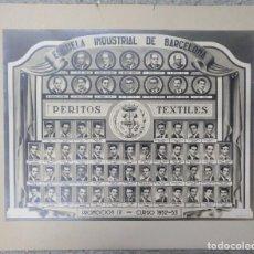 Carteles: ORLA ESCUELA INDUSTRIAL DE BARCELONA PERITOS TEXTILES CURSO 1952-1953. Lote 101351219