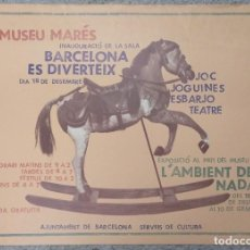 Carteles: MUSEU MARES. BARCELONA ES DIVERTEIX DISEÑO SARSANEDAS-AZCUNCE 60 X 44 CM (APROX). Lote 101353199