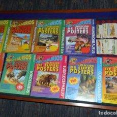 Carteles: DINOSAURIOS SUPER POSTERS NºS 1 2 3 4 5 6 7 8 9 MÁS LOS 90 CROMOS. 81X 56 CMS PLANETA 1993 BE RAROS.. Lote 101377223