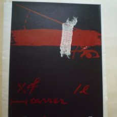 Carteles: ANTONI TÀPIES. CARTEL DE EXPOSICIÓN INAUGURAL. GALERIA MAEGHT. BARCELONA. 1974. Lote 101713711