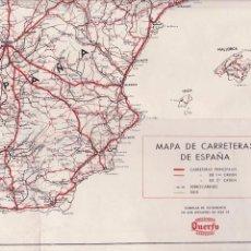 Carteles: MAPA DE ESPAÑA - CARRETERAS - EDICIONES QUERFO 1955 / BARCELONA. Lote 102410707