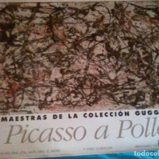 Carteles: CARTEL ,OBRAS MAESTRAS DE LA COLECCION GUGGENHEIM DE PICASSO A POLLOCK,1991. Lote 102569771