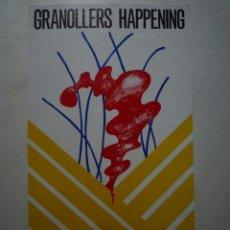 Carteles: GRANOLLERS HAPPENING. CARTEL DE LA ACCIÓN DE ARRANZ BRAVO-BARTOLOZZI. 1974. Lote 102574511