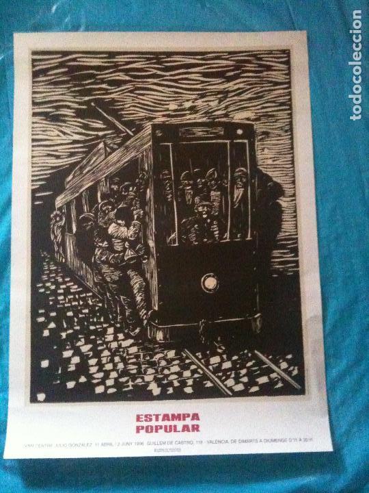 CARTEL ESTAMPA POPULAR,ANT0NIO R.VALDIVIESO SIN TITULO CA 1960 (Coleccionismo - Carteles Gran Formato - Carteles Varios)