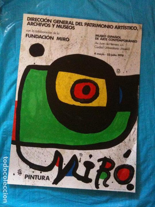 CARTEL EXPOSICION MIRO (Coleccionismo - Carteles Gran Formato - Carteles Varios)