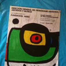 Affissi: CARTEL EXPOSICION MIRO. Lote 102599371
