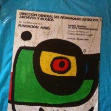 Cartazes: CARTEL EXPOSICION MIRO. Lote 102599371