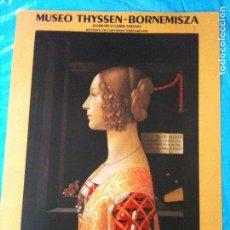 Carteles: CARTEL EXPOSIXION MUSEO THYSEN 1992. Lote 102603787