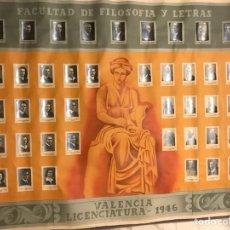 Carteles: VALENCIA. FACULTAD DE FILOSOFIA Y LETRAS.VALENCIA (A.1946). Lote 102979712