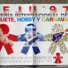 Carteles: CARTEL POSTER. 36 FERIA INTERNACIONAL DEL JUGUETE HOBBY Y CARNAVAL. VALENCIA, 1997.. Lote 103375715