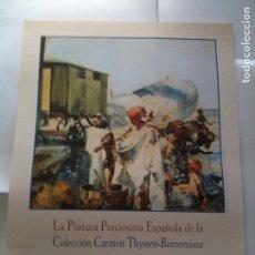 Carteles: CARTEL LA PINTURA PRECIOSISTA ESPAÑOLA-1999. Lote 103511443