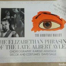 Carteles: CARTEL THE ARMITAGE BALLET 1986. Lote 103705343