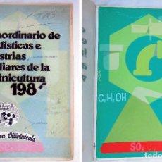 Carteles: MAQUETA ORIGINAL ACUARELA : EXTRAORDINARIO DE ESTADÍSTICAS…1986 DISEÑO LAGOA. LA SEMANA VITIVINICOLA. Lote 103954711