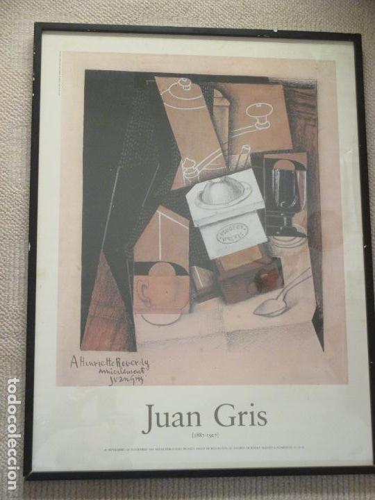 JUAN GRIS, CARTEL DE LA EXPOSICIÓN EN MADRID 1985, SALAS PABLO RUIZ PICASSO, BIBLIOTECA NACIONAL (Coleccionismo - Carteles Gran Formato - Carteles Varios)