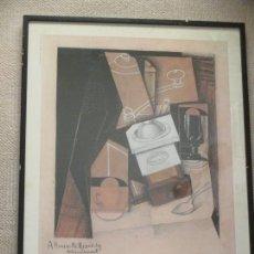 Carteles: JUAN GRIS, CARTEL DE LA EXPOSICIÓN EN MADRID 1985, SALAS PABLO RUIZ PICASSO, BIBLIOTECA NACIONAL. Lote 104054087