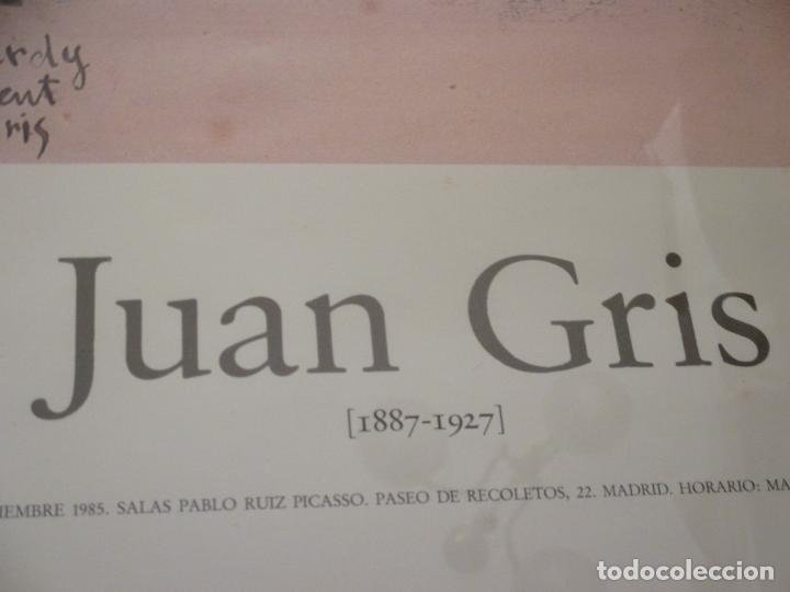 Carteles: Juan Gris, cartel de la Exposición en Madrid 1985, Salas Pablo Ruiz Picasso, Biblioteca Nacional - Foto 2 - 104054087