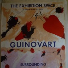 Carteles: JOSEP GUINOVART. THE EXHIBITION SPACE. NEW YORK. 1982. Lote 147943984