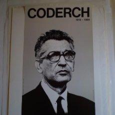 Carteles: CODERCH. 1913-1985. SALÓ DEL TINELL. COL.LEGI ARQUITECTES DE CATALUNYA. BARCELONA. 1988. Lote 105112119